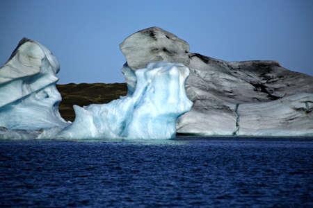 Icebergs on Jokulsarlon lagoon Iceland photo