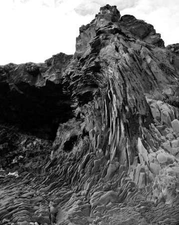 Basalt cliff at Arnarstapi beach Iceland