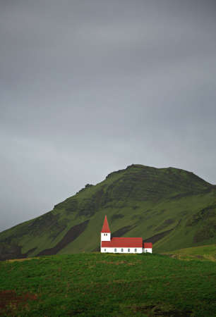 Church on the hill at Vik in Iceland Stock Photo - 845617
