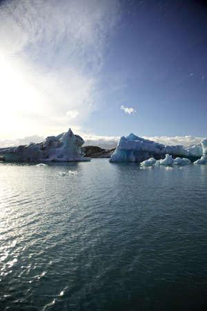 Green & Blue icebergs Jokulsarlon lagoon Iceland Stock Photo - 875188