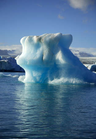 Colossal iceberg on Jokulsarlon lagoon Iceland photo