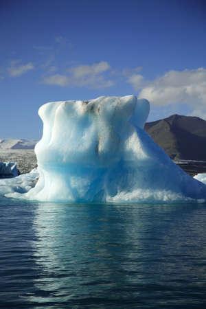 Gigantic iceberg floating on Jokulsarlon lagoon Iceland photo