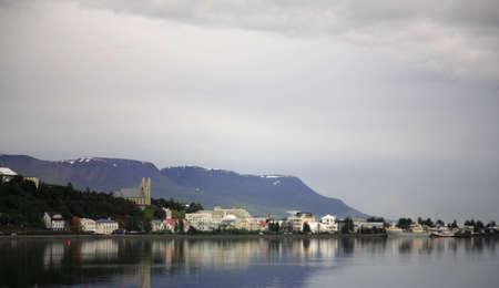 The fishing village of Akureyri Northern Iceland