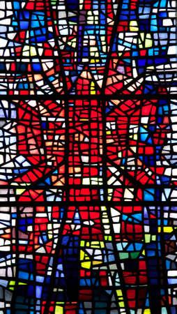 window church: Vetrate colorate chiesa finestra Skalholt Islanda