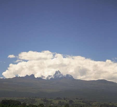 View over to Mount Kenya Kenya Africa Stock Photo - 991909