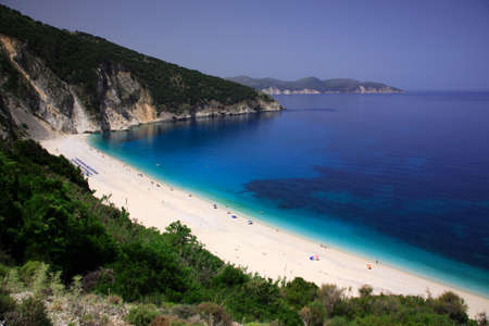 kefalonia: Myrtos beach Kefalonia Greece Stock Photo