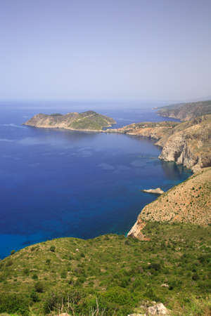 kefallonia: View over to Assos Kefalonia Greece