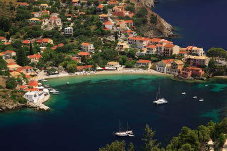 Assos village Kefalonia Greece Stock Photo