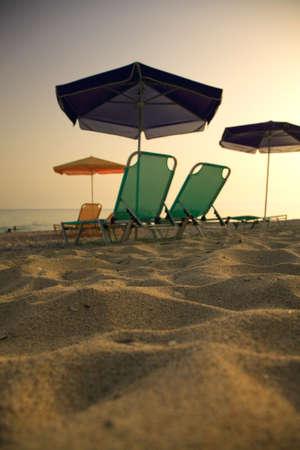 Relaxing on the Lourdas beach Kefalonia Greece