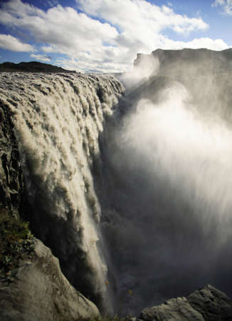 Thundering Dettifoss waterfall Iceland photo