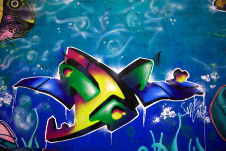 reykjavik: Un impresionante graffiti Reykjavik Islandia