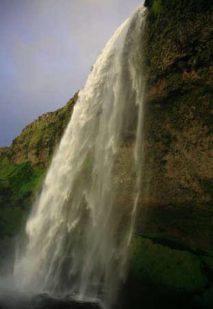 gush: Amazing waterfall at Seljalandfoss in Iceland