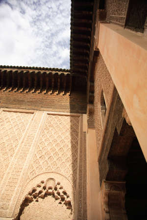 Walls of a Moroccan Royal palace in Morocco North Africa photo