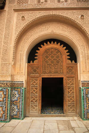 Decorative palace doorway in Morocco North Africa photo