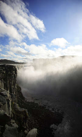 Looking down to Dettifoss waterfall Iceland photo