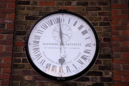 The Shepherd 24-hour gate clock at the Royal Observatory in Greenwich, England Stock Photo - 2641211
