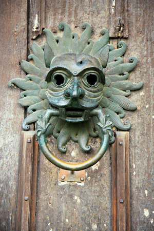 durham: Old door knocker from the door of Durham Cathedral Stock Photo