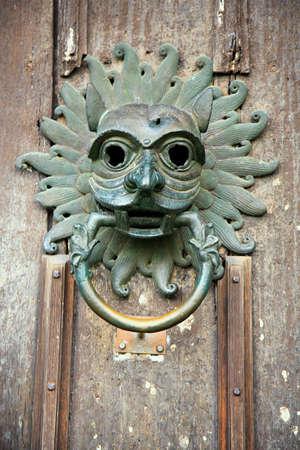 Old door knocker from the door of Durham Cathedral photo