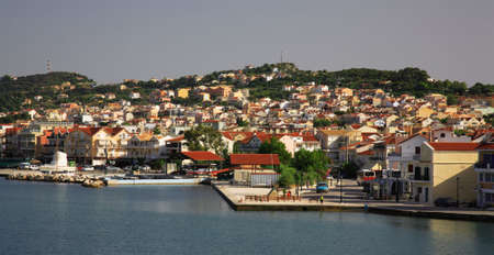 kefallonia: View to Argostoli the capital city of Kefalonia Greece Stock Photo