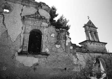 Ruin of Sassia Monastery Kefalonia Greece