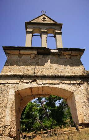 Sassia Monastery bell tower Kefalonia Greece