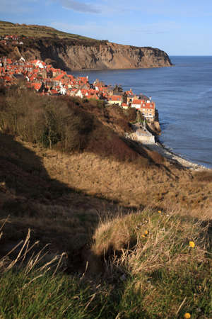 View to Robin Hoods Bay from the cliffs North Yorkshire Stock Photo - 2820300