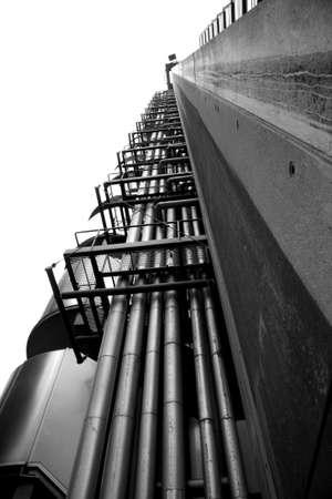 lloyd's: London architecture, the amazing Lloyds of London building Stock Photo