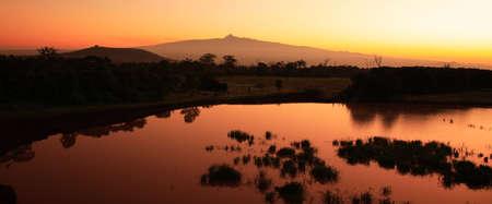Sunrise Mount Kenya in Africa photo