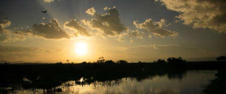 lake naivasha: Stunning sunset over Lake Naivasha Kenya