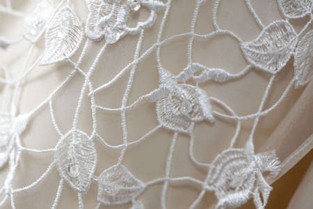 Lace detail on a wedding dress Stock Photo - 3040340
