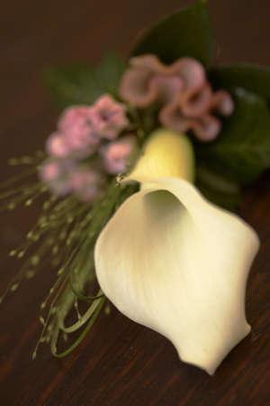 Cala Lily corsage Hochzeit Blumen  Stockfoto - 3040321