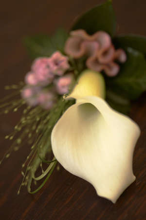 Cala Lily corsage Hochzeit Blumen  Lizenzfreie Bilder - 3040321