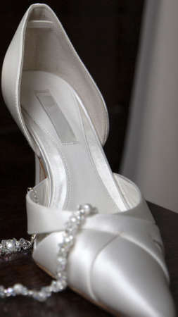 Shoe of the bride on her wedding day Stock Photo - 3052371