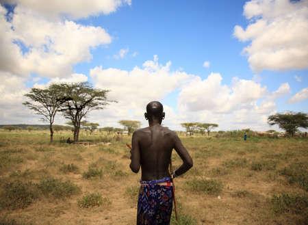 The chief of Samburu village Kenya Africa photo