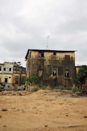 shanty: Run down residential area Mombasa Kenya Africa  Stock Photo