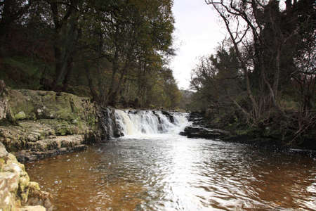 gelt: Waterfall on the River Gelt in Cumbria Northern England
