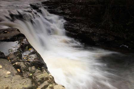 gelt: Close up of a waterfall River Gelt Cumbria UK