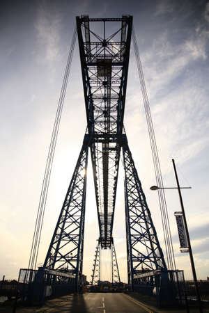 Transporter bridge in Middlesbrough, Teesside North East England Stock Photo - 4341366