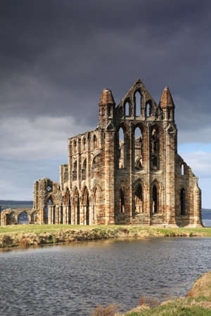 Whitby Abbey lit by the sun North Yorkshire England Stock Photo - 4666336
