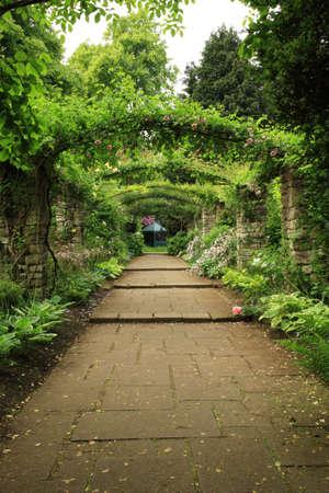 gazebo: Down the path of an English Country Garden