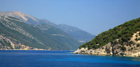 kefallonia: The mountains of the coastline of Kefalonia