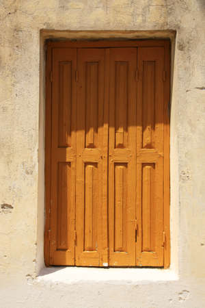kefallonia: Shuttered window in Kefalonia Greece