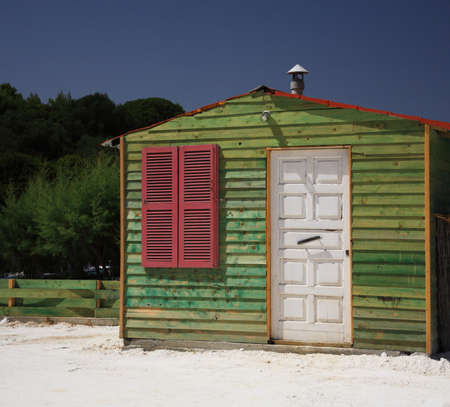 cabane plage: Plage verte hut C�phalonie Gr�ce