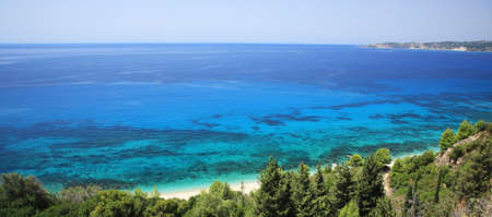 kefallonia: View over Lourdas Bay Kefalonia Greece Stock Photo