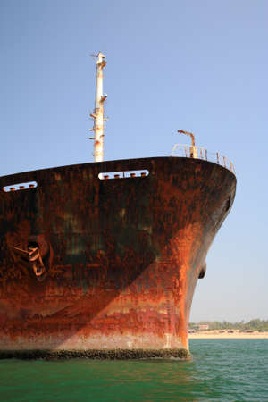 eyesore: Close up of the bow of the River Princess Goa India