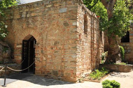 The House of The Virgin Mary Ephesus Turkey Stock Photo
