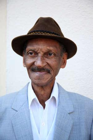Portrait of a traditional Cuban Man in Havana Cuba 9 January 2009 Editorial