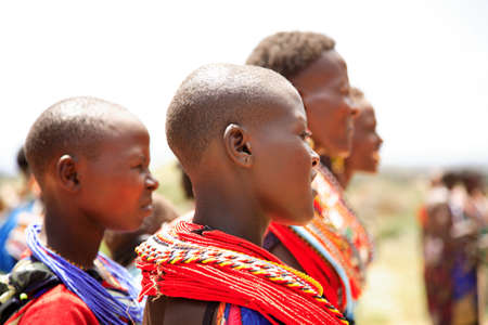 nomadic: Female dancers of the Samburu tribe in traditional costume 20 January 2007 Editorial