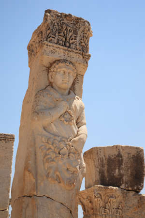 Historical statue at Ephesus in Turkey Stock Photo - 8582485