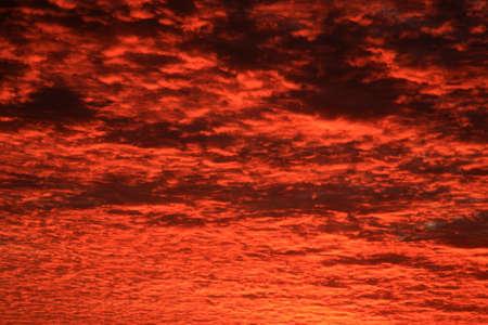 menacing: Menacing UK cloudscape during a winter sunrise  Stock Photo